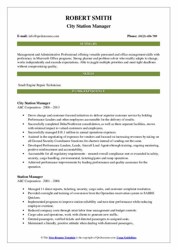 station manager resume samples qwikresume service pdf cmo template difference between Resume Service Station Manager Resume