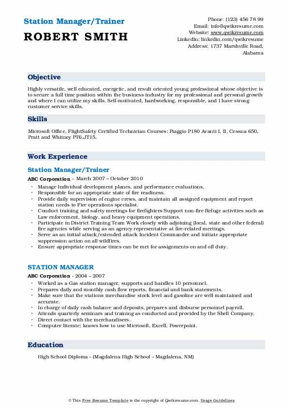 station manager resume samples qwikresume service pdf general summary examples safety Resume Service Station Manager Resume