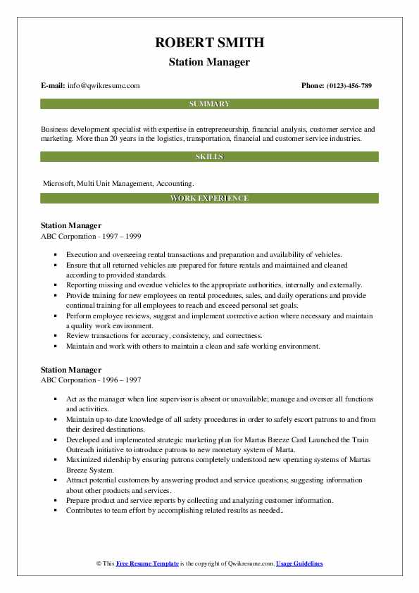 station manager resume samples qwikresume service pdf safety talent acquisition examples Resume Service Station Manager Resume