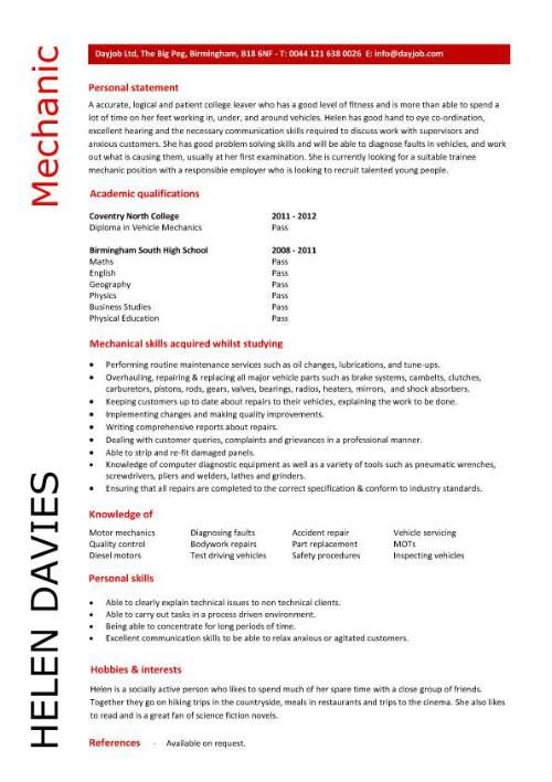 student entry level mechanic resume template automotive technician pic free format Resume Automotive Technician Resume Download