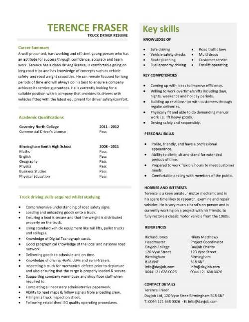 student entry level truck driver resume template driving objective examples pic Resume Truck Driving Resume Objective Examples