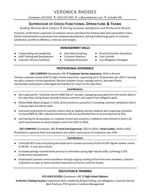 supervisor resume sample monster customer service job description for senior executive Resume Customer Service Supervisor Job Description For Resume
