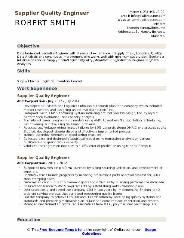 supplier quality engineer resume samples qwikresume objective pdf piping supervisor Resume Quality Engineer Resume Objective