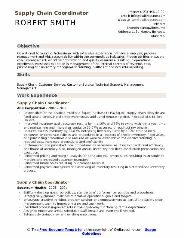 supply chain coordinator resume samples qwikresume examples pdf high school template Resume Supply Chain Resume Examples