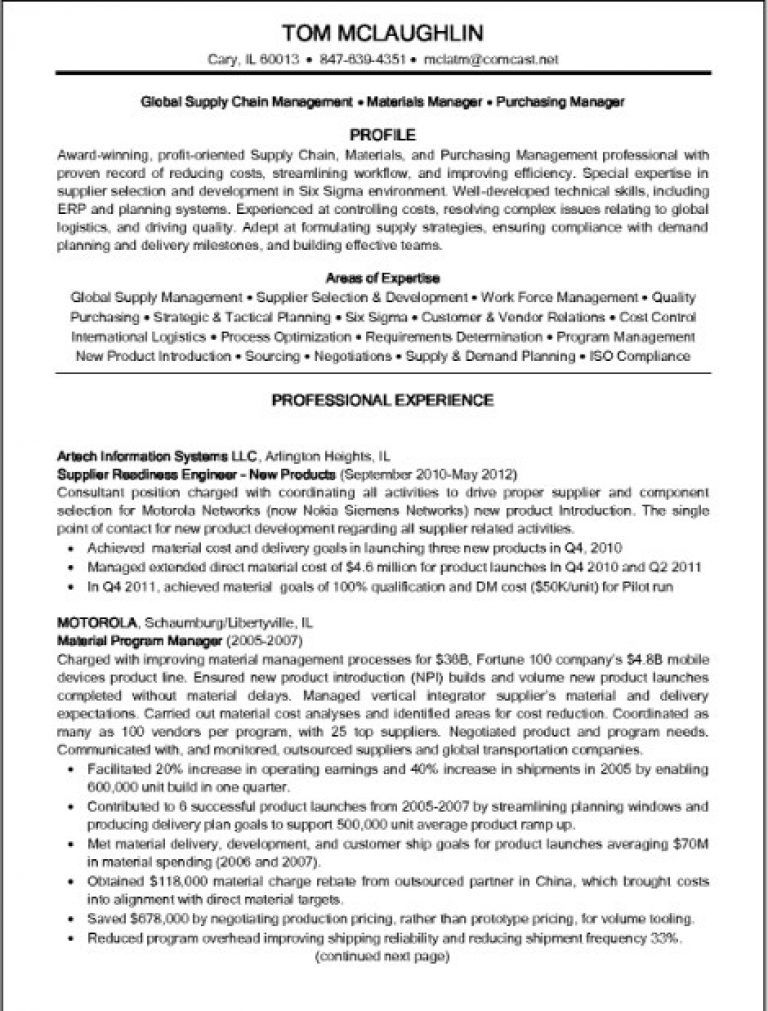 supply chain manager resume example job examples sample shadowing student teaching on Resume Supply Chain Resume Examples