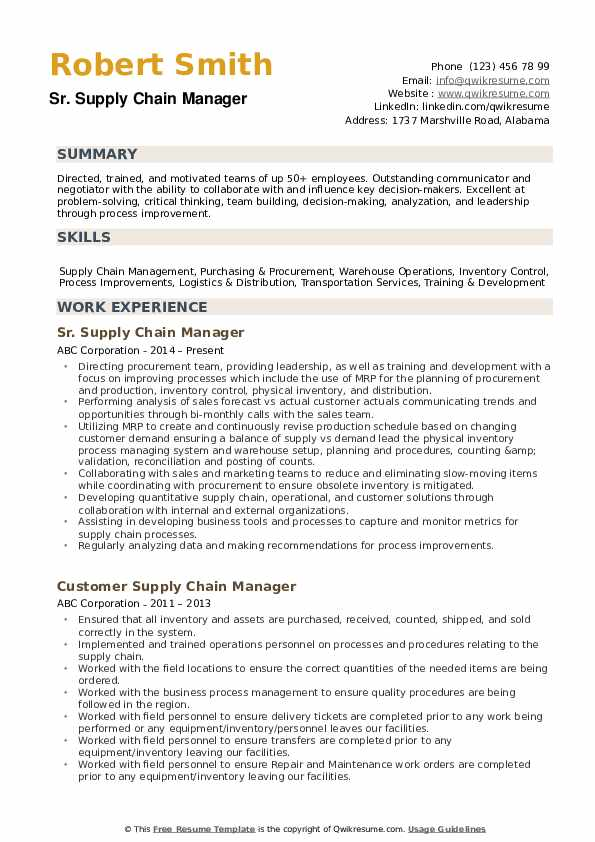 supply chain manager resume samples qwikresume examples pdf monster writing services Resume Supply Chain Resume Examples