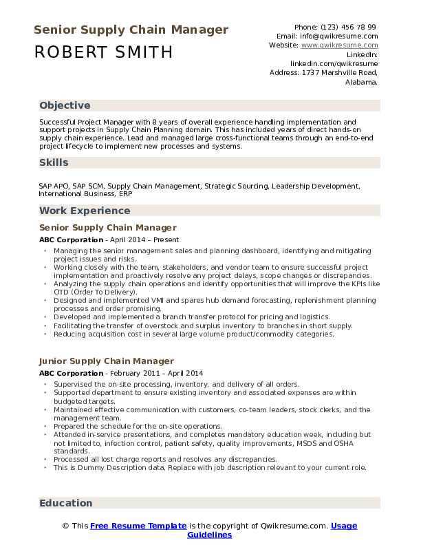 supply chain manager resume samples qwikresume examples pdf sample shadowing export Resume Supply Chain Resume Examples