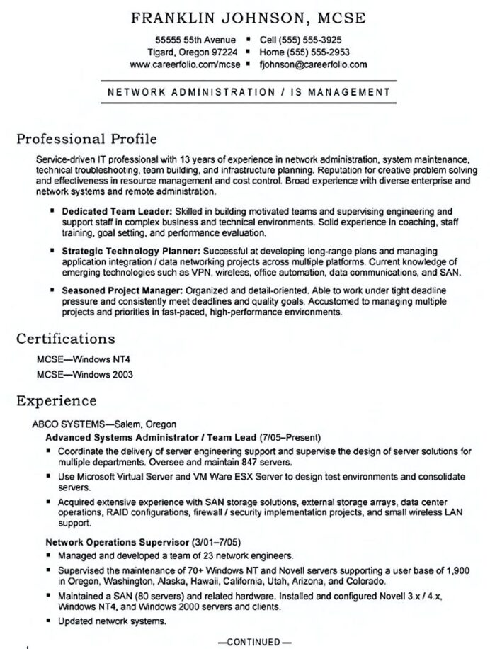 system administrator resume includes snapshot of the skills both technical and Resume Sample Resume For Experienced System Administrator