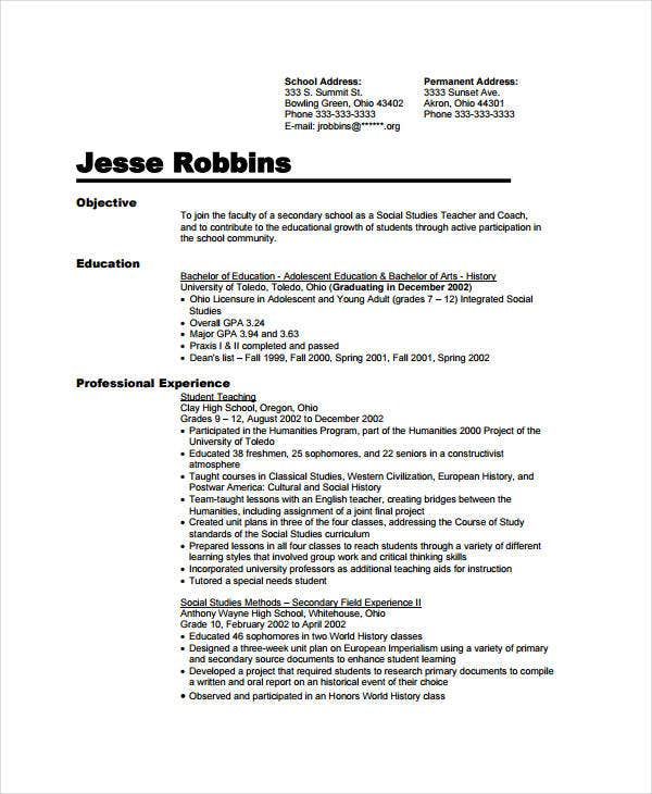 teacher assistant resume templates pdf free premium objective preschool mortgage format Resume Teacher Assistant Resume Objective