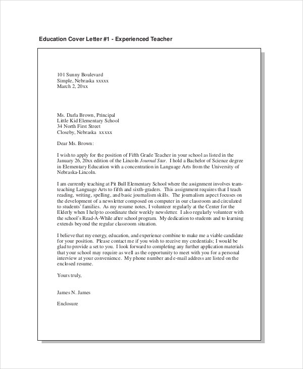 teacher cover letter example free word pdf documents premium templates science resume Resume Science Teacher Resume Cover Letter