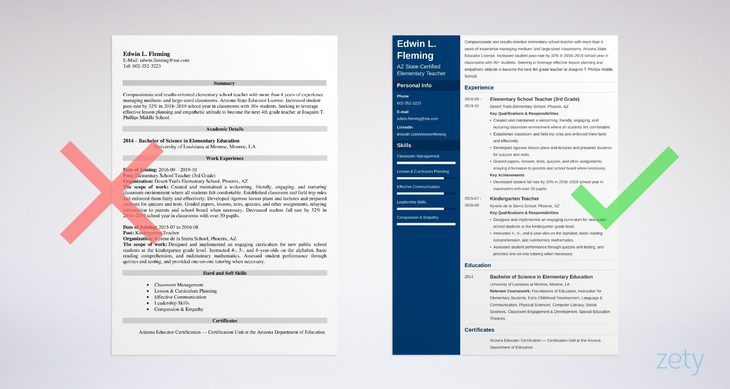 teacher resume examples template skills tips free templates for childhood education Resume Free Resume Templates For Early Childhood Education