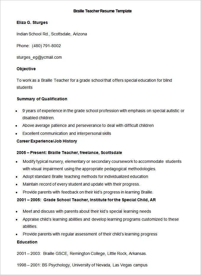 teacher resume templates pdf publisher free premium private music sample braille template Resume Private Music Teacher Resume