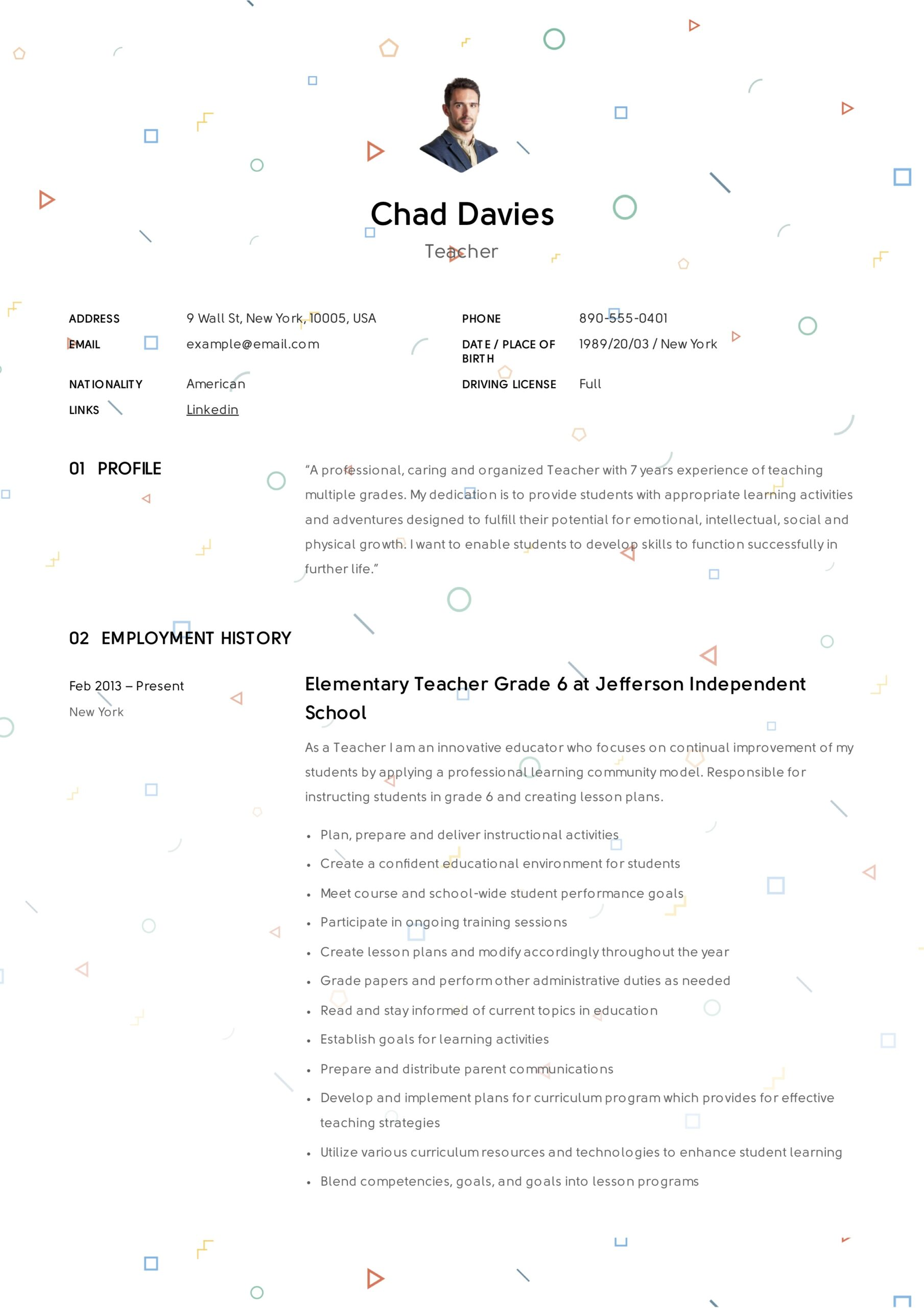 teacher resume writing guide examples pdf personal skills for elementary sample free Resume Personal Skills For Teacher Resume
