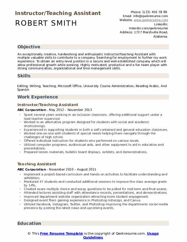 teaching assistant resume samples qwikresume teacher objective pdf market research Resume Teacher Assistant Resume Objective