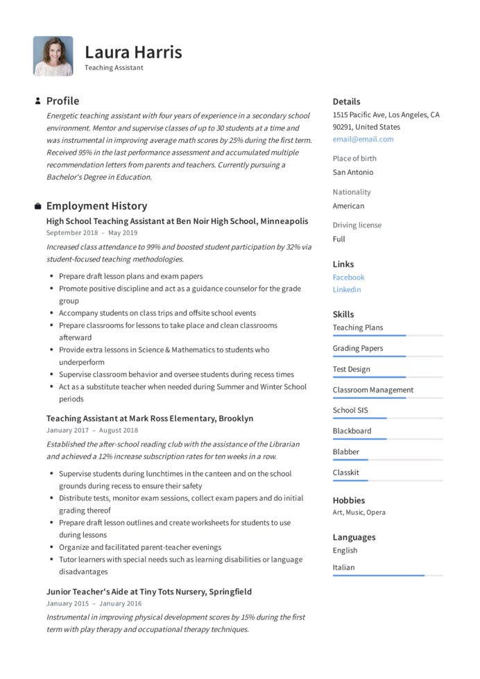 teaching assistant resume writing guide templates pdf special education paraprofessional Resume Special Education Paraprofessional Resume