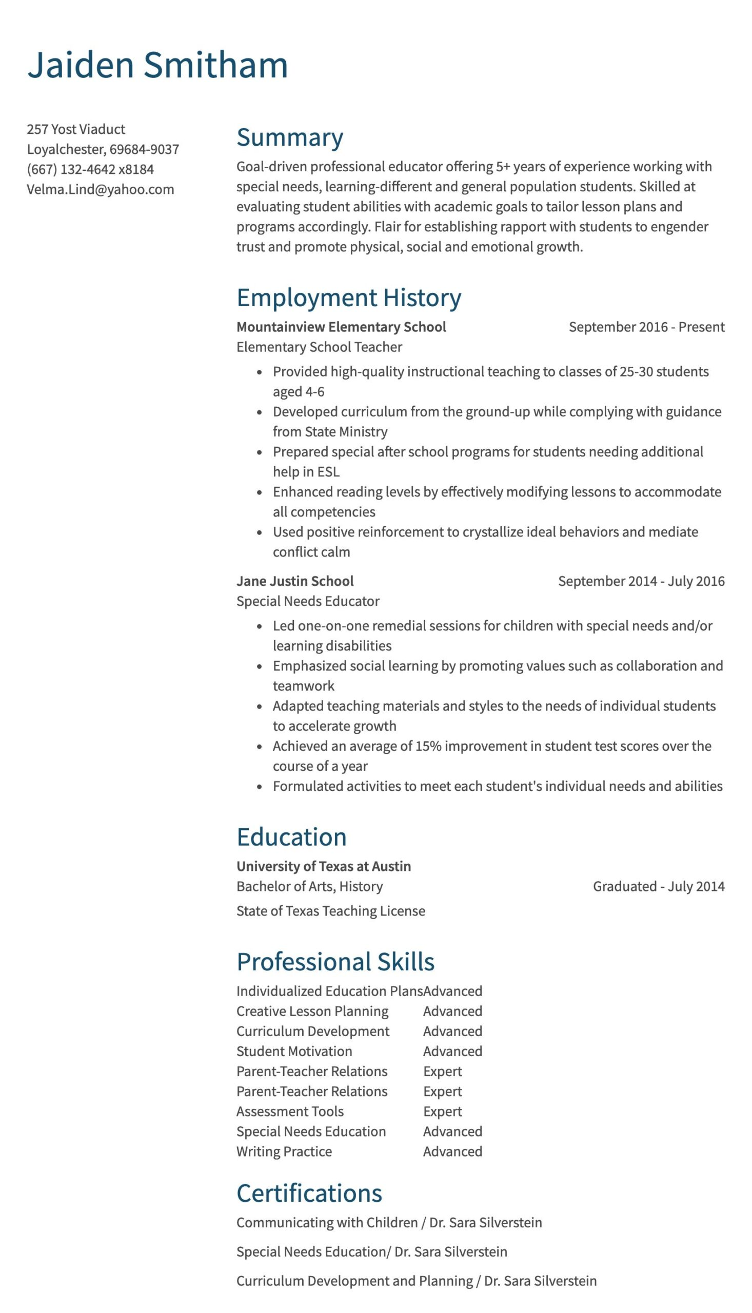 teaching resume sample writing lesson plan for high school students teacher years of exp Resume Resume Writing Lesson Plan For High School Students