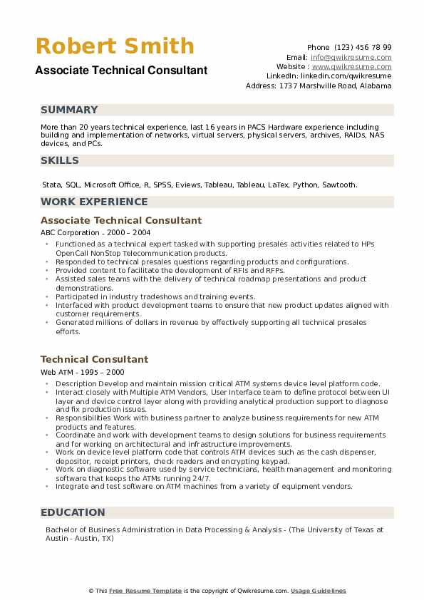 technical consultant resume samples qwikresume technology examples pdf best ats format Resume Technology Consultant Resume Examples