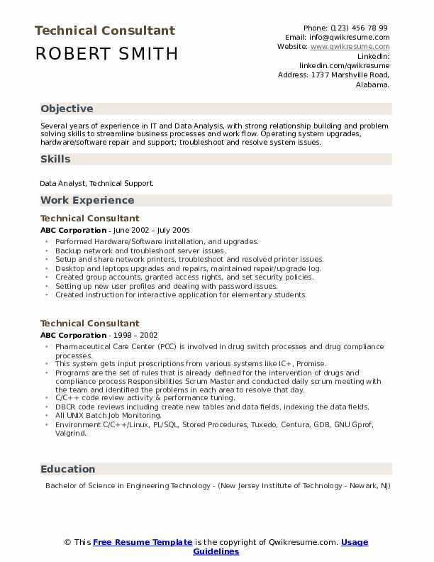 technical consultant resume samples qwikresume technology examples pdf template with pie Resume Technology Consultant Resume Examples