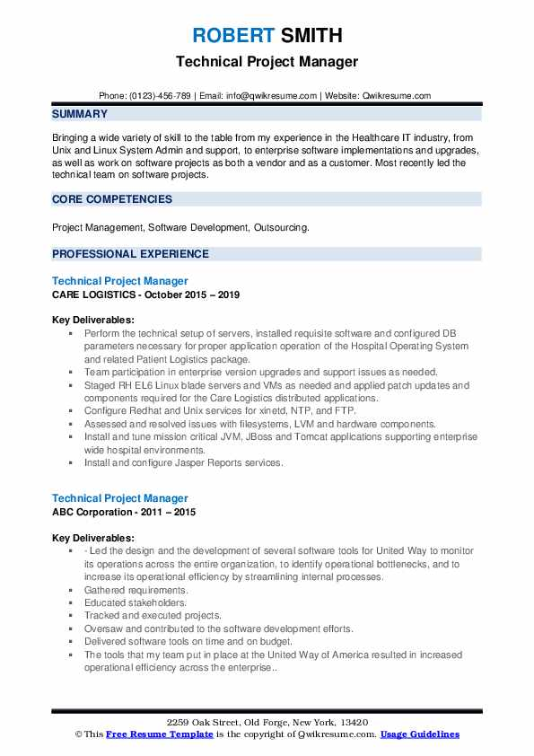 technical project manager resume samples qwikresume healthcare pdf residency program Resume Healthcare Project Manager Resume