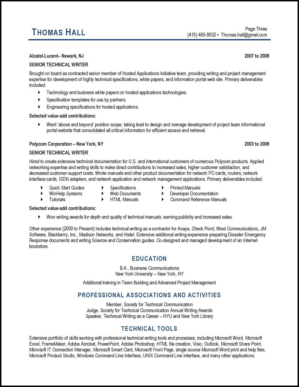 technical writer resume example distinctive career services professional examples writing Resume Professional Resume Examples Resume Writing