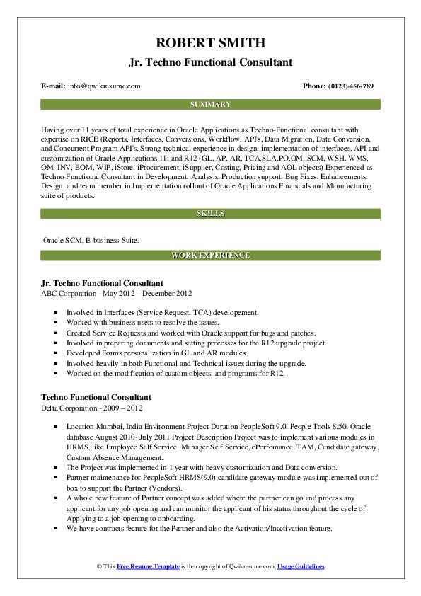 techno functional consultant resume samples qwikresume sample pdf current education Resume Techno Functional Consultant Resume Sample