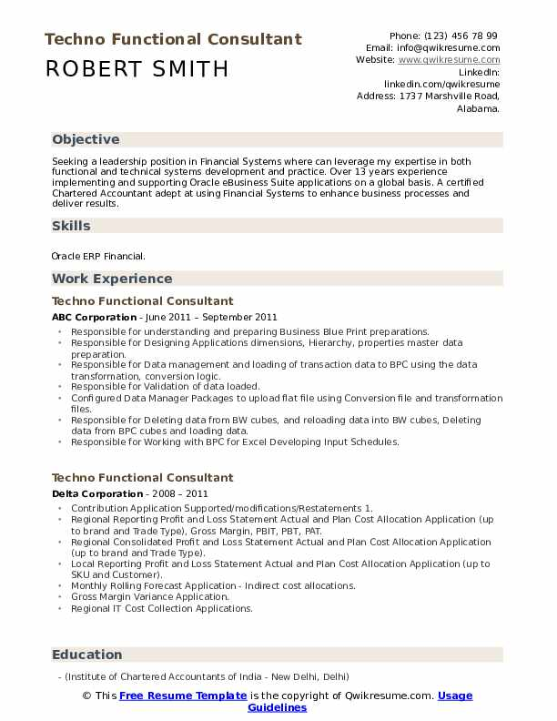 techno functional consultant resume samples qwikresume sample pdf logistics Resume Techno Functional Consultant Resume Sample