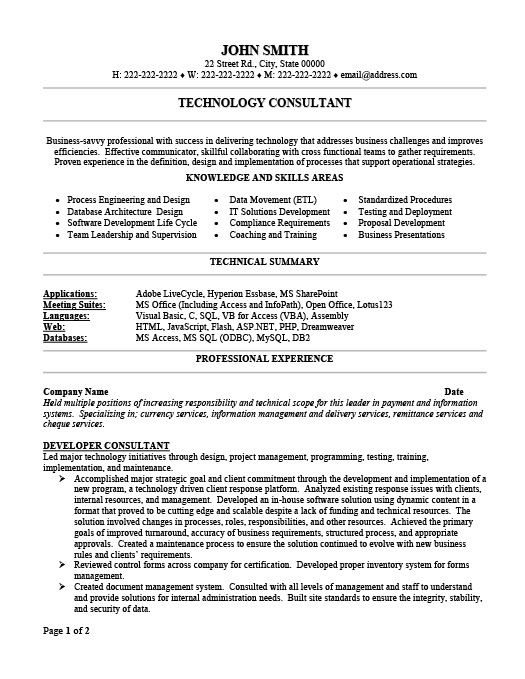 technology consultant resume template premium samples example writing tips examples Resume Technology Consultant Resume Examples