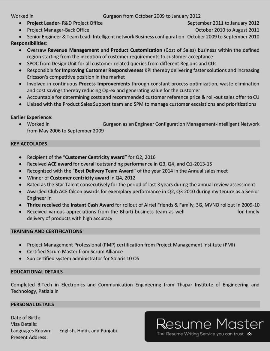 telecom project manager resume master sample accounting with multiple experience Resume Telecom Project Manager Resume Sample
