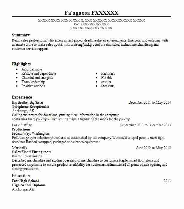 telephone receptionist resume example livecareer answering phones on hdfc careers upload Resume Answering Phones On Resume