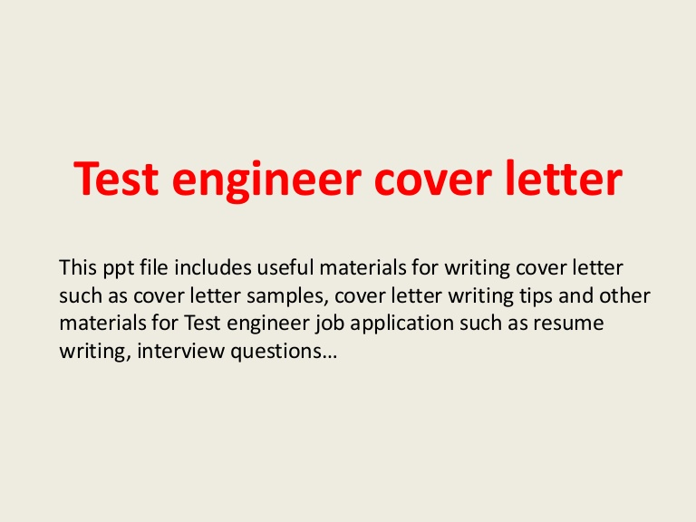 test engineer cover letter for manual testing resume testengineercoverletter phpapp01 Resume Cover Letter For Manual Testing Resume
