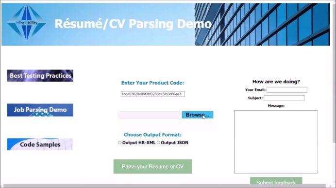 testing hireability resume and cv parsers parser first job examples sample child dance Resume Hireability Resume Parser