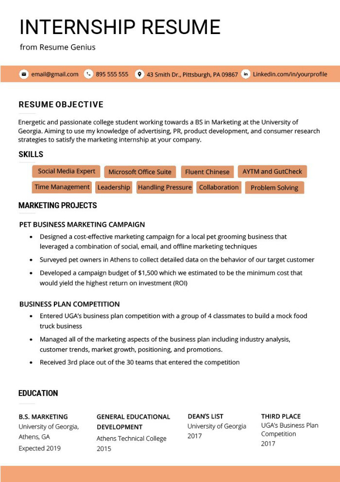 the best cv examples for your inspiration resume requirements internship example medical Resume Resume Requirements 2019