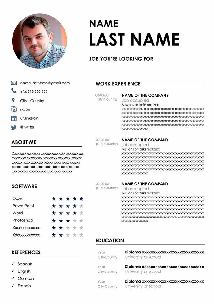 the best cv format free template for word in resume words hardware technician upload and Resume Best Resume Template Word 2020
