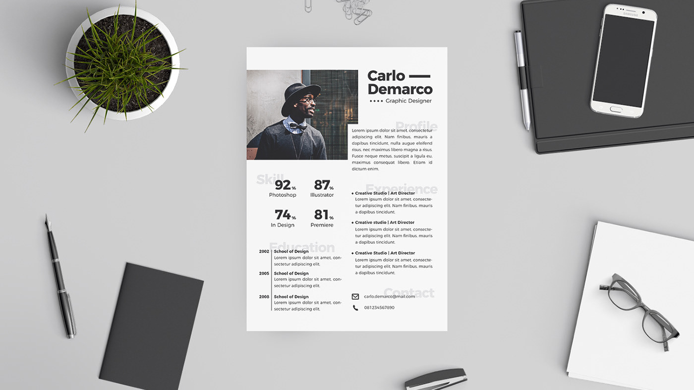 the best free resume templates creative bloq graphic design template word Resume Free Graphic Design Resume Template Word