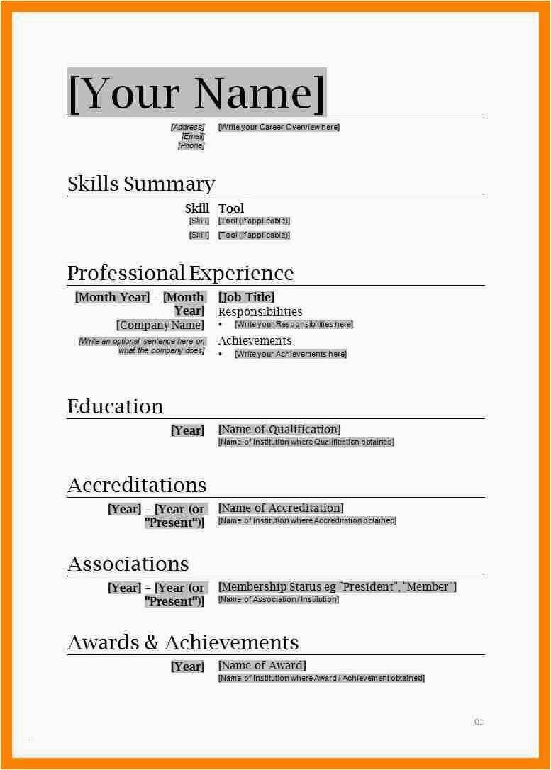 the cool free resume templates for microsoft word with regard to downloadable template Resume Simple Resume Template Free Download