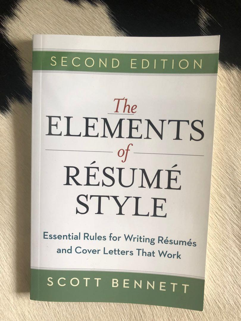 the elements of resume style book books stationery non fiction on carousell progressive Resume Elements Of Resume Style