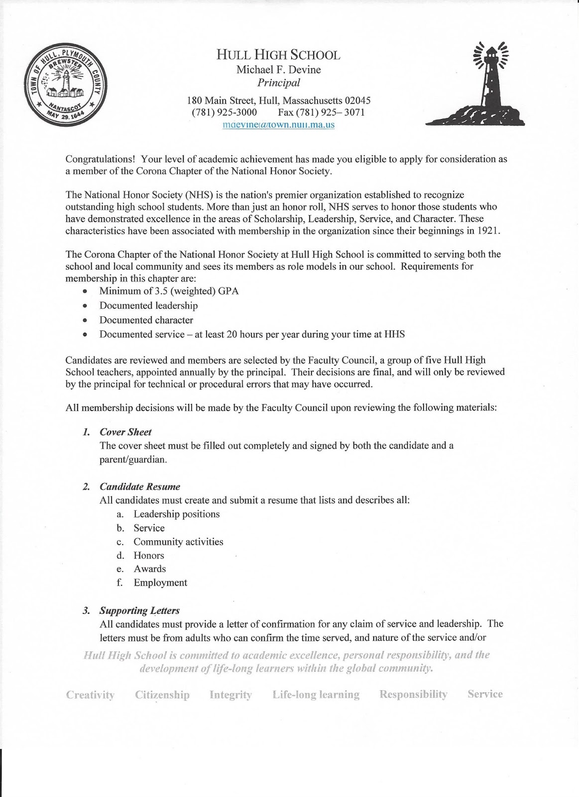 the hull high school blog important national honor society information on resume scan0003 Resume Honor Society On Resume