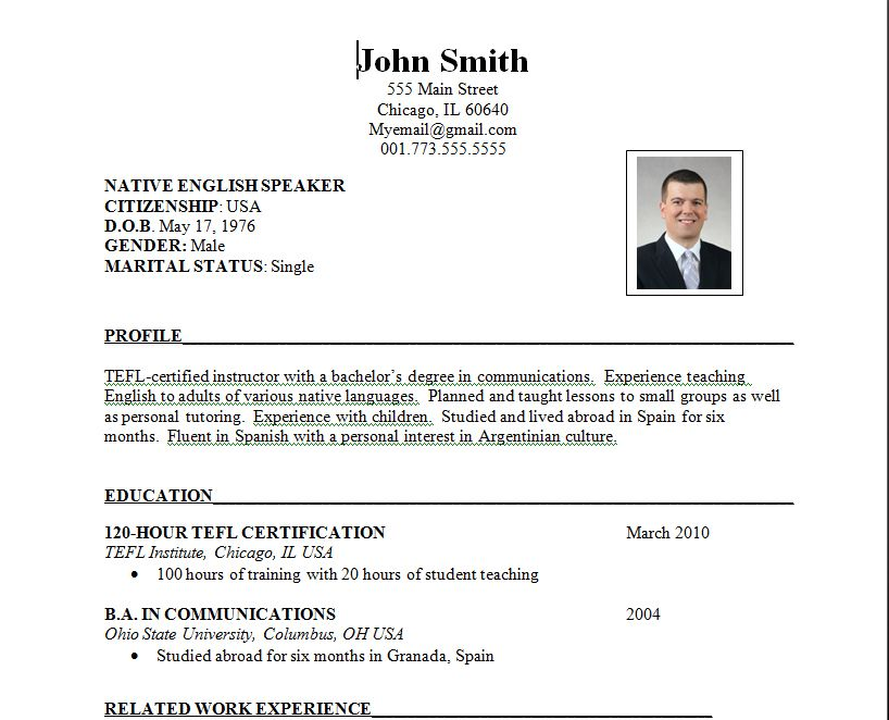 the job writing an international resume examples format best keywords for sports trainer Resume International Resume Format