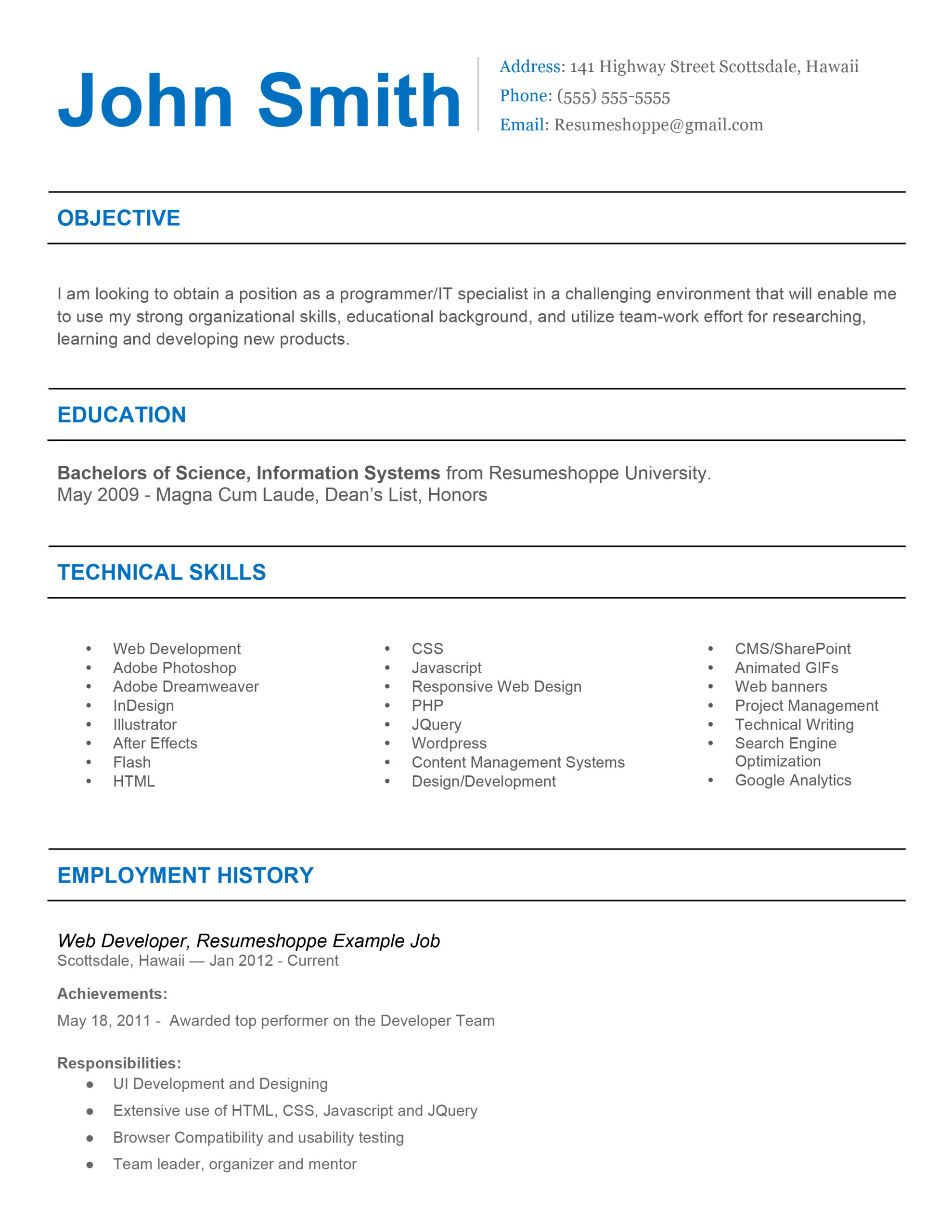 the john resume simple but effective best customer service technical expertise examples Resume Simple But Effective Resume