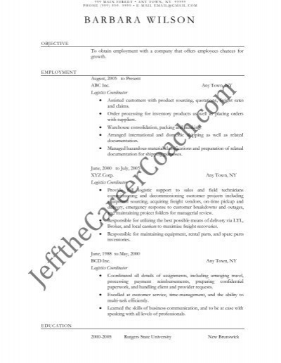 the logistics coordinator resume sample one in pdf freight military awards on example Resume Freight Coordinator Resume