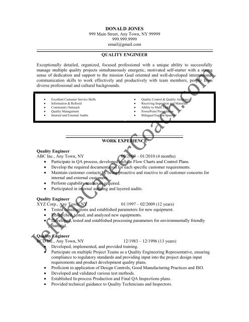 the quality engineer resume sample three in pdf best architect professional maker Resume Quality Engineer Resume Download