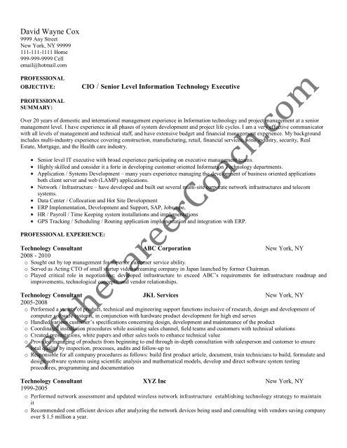 the technology consultant resume sample two in pdf examples problem action result image Resume Technology Consultant Resume Examples