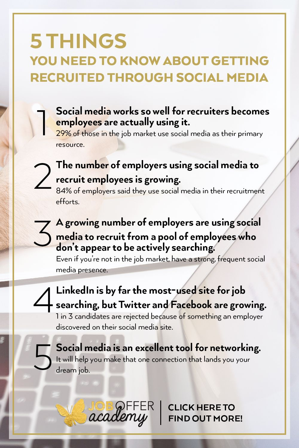 things you need to know about getting recruited through social media job search tips Resume Ashley Stahl Resume Template