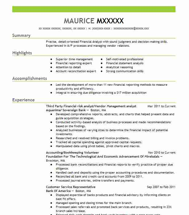 third party risk management analyst resume example business control officer plant city Resume Vendor Management Resume