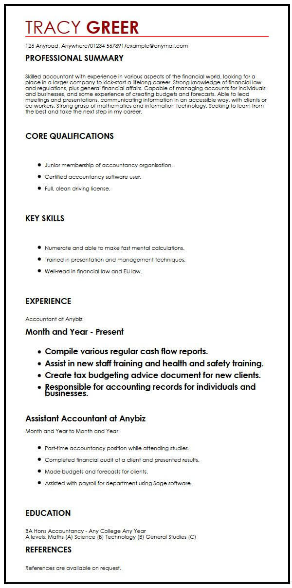 this is the intern cv example by myperfectcv professional summary resume for internship Resume Professional Summary Resume For Internship