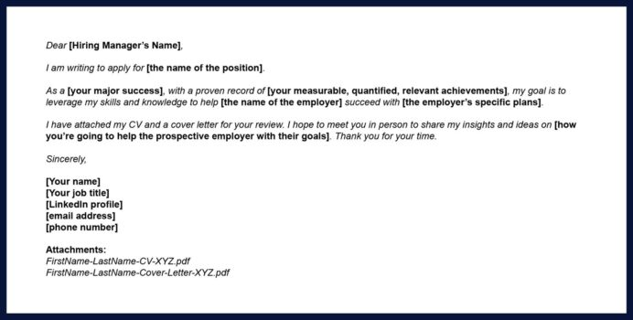 tips for sending your cv via email topcv body of the letter resume sports photography Resume Body Of The Letter For Sending Resume