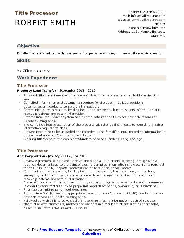 title processor resume samples qwikresume for sending pdf spa front desk child support Resume Title For Sending Resume