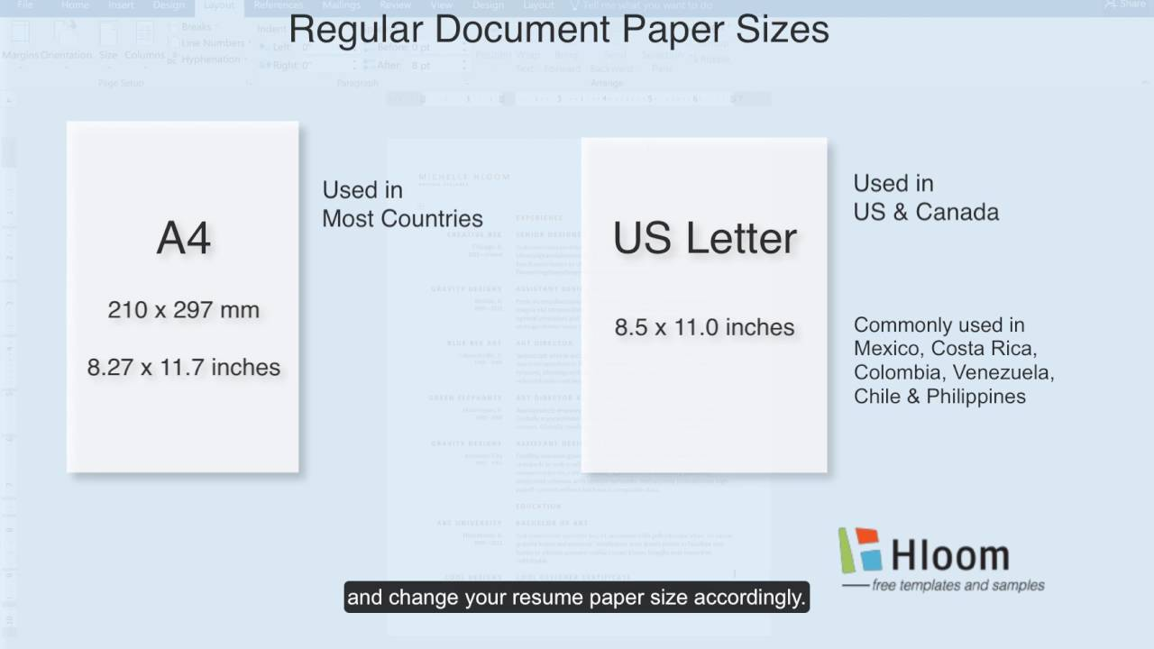 to change paper size in microsoft word resume template for and application letter medical Resume Paper Size For Resume And Application Letter
