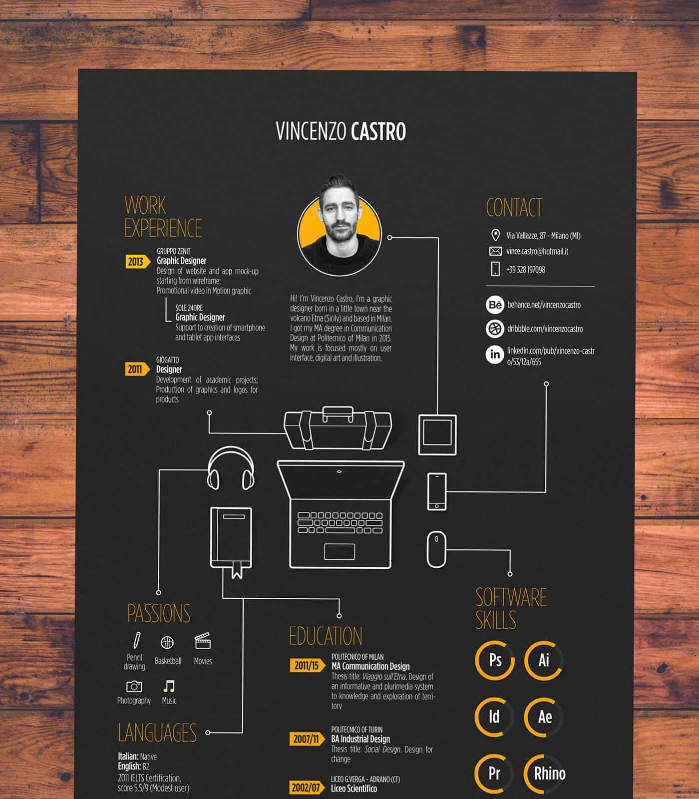 to create an infographic resume that ll get you hired inspiring examples piktochart Resume Simple Infographic Resume Template