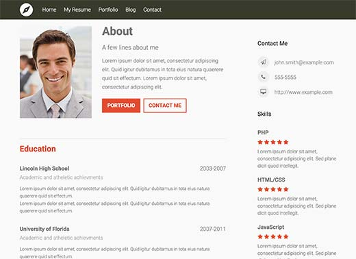 to create professional resume in wordpress best builder websites preview entry level Resume Best Resume Builder Websites